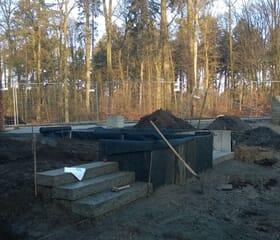 Landesgartenschau 2017 - Baustelle - Bodenvorbereitung und Treppenbau