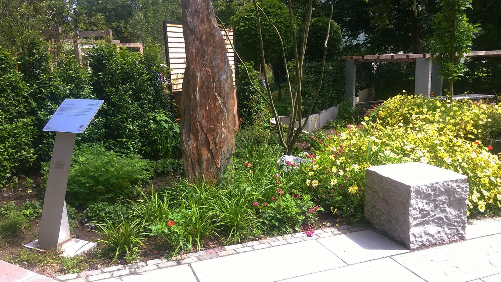Landesgartenschau 2017 - Der 45 Grad Garten: Beet im Eingangsbereich