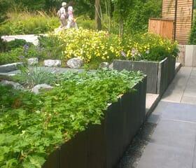 Landesgartenschau 2017 - Der 45 Grad Garten: Hochbeete